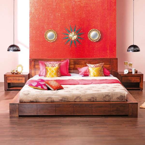ELEBASE King Bed without Storage with...