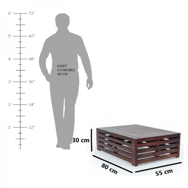 Squira Plate Solid Coffee Table